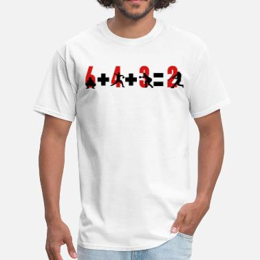 3 Baseball 6+4+3=2 double play - Men's T-Shirt