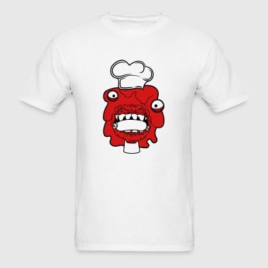 sausage cook eat chef apron hunger delicious dange - Men's T-Shirt