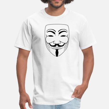 Guy Fawkes Mask Anonymous Guy Fawks Mask _v2 Vector 1_Color - Men's T-Shirt