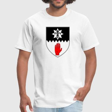 County Tyrone Ireland Irish Coat of Arms - Men's T-Shirt