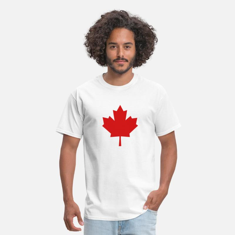 Maple Leaf T-Shirts - Maple Leaf - Symbol of Canada - Men's T-Shirt white