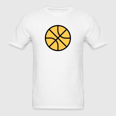 Basketball Minimalist Design Icon - Men's T-Shirt