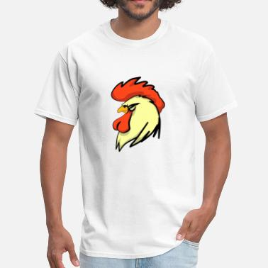 Rooster Rooster Head - Men's T-Shirt
