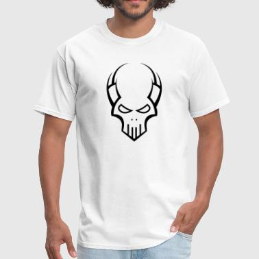 Alien Vs Predator Tribal Alien Predator Skull - Men's T-Shirt