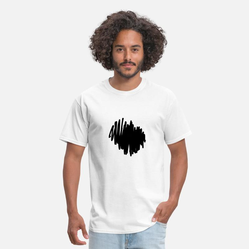 Abstract T-Shirts - Marker Scribble Background - Men's T-Shirt white