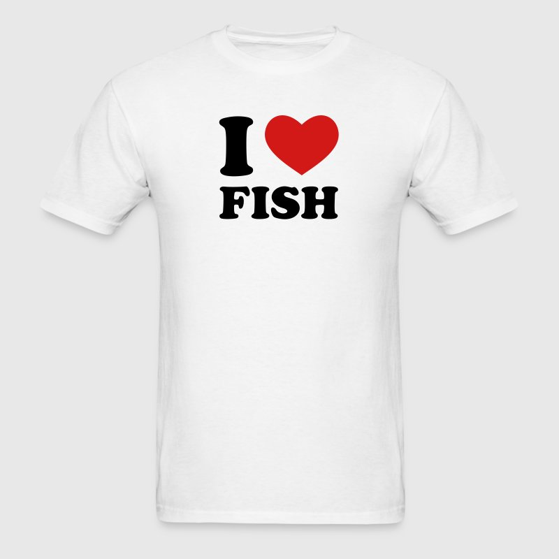 I Love Fish - Men's T-Shirt