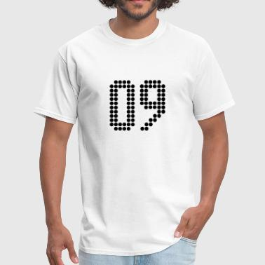 09, Numbers, Football Numbers, Jersey Numbers - Men's T-Shirt