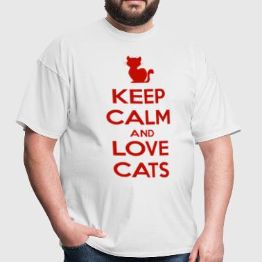 Keep Calm and Love Cats - Men's T-Shirt