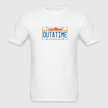 OUTATIME License Plate - Men's T-Shirt