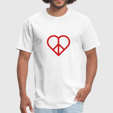 Heart Peace peace heart love - Men's T-Shirt