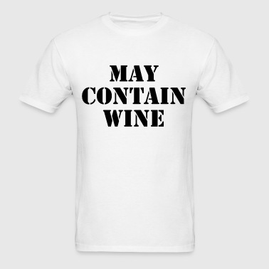 My contain wine - Men's T-Shirt