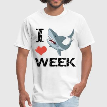 i love shark week shark - Men's T-Shirt