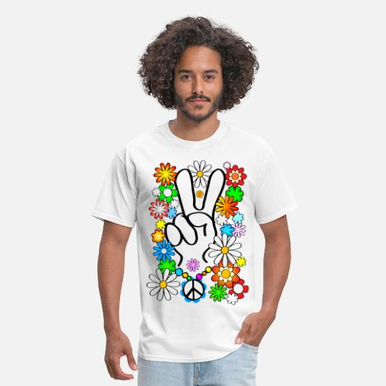 60s T-Shirts - Peace, Baby! - Men's T-Shirt white