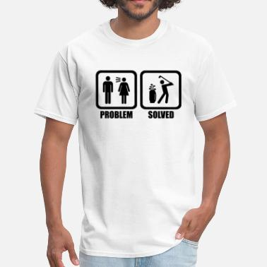 Play Funny Golf Problem Solved - Men's T-Shirt