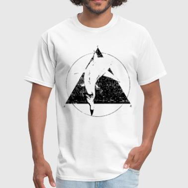 Dizzy SHARK ILLUMINATI Tumblr Geometric Biology Nature T - Men's T-Shirt