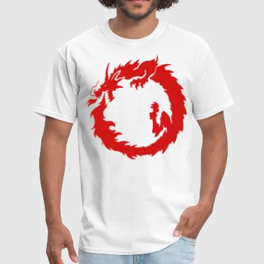 Asian Tribal Fire Dragon - Men's T-Shirt