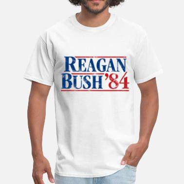 Template Presidential Election Distressed Reagan - Bush '84 - Men's T-Shirt