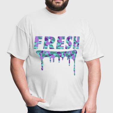Fresh Purple Camo Drips - Men's T-Shirt