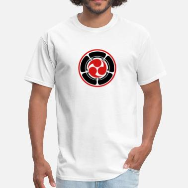 Trinity Force Japan Symbol Mitsu Tomoe Shinto Aikido Judo Karate - Men's T-Shirt