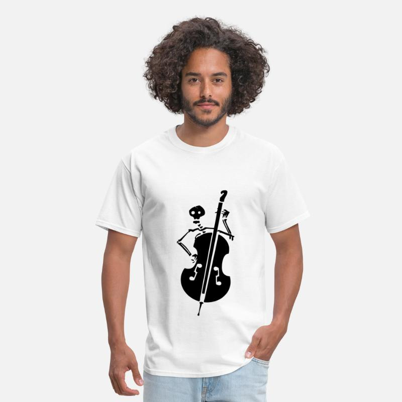 Double T-Shirts - Skeleton Band - Men's T-Shirt white