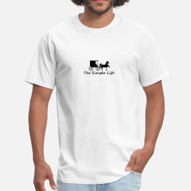 Amish Horse Buggy The Simple Life - Men's T-Shirt