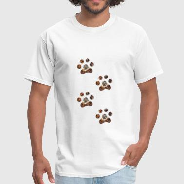 artTS 4 rusty paw prints - Men's T-Shirt
