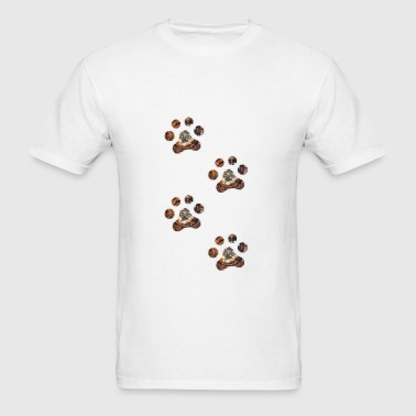 rusty paw prints - Men's T-Shirt