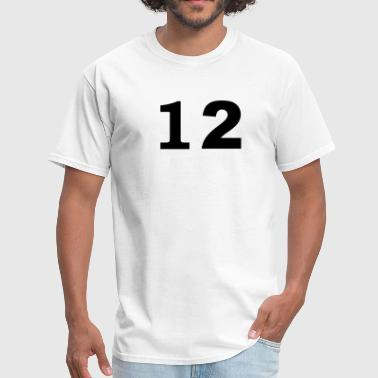 number - 12 - twelve - Men's T-Shirt