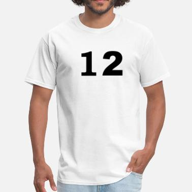 Number 12 number - 12 - twelve - Men's T-Shirt