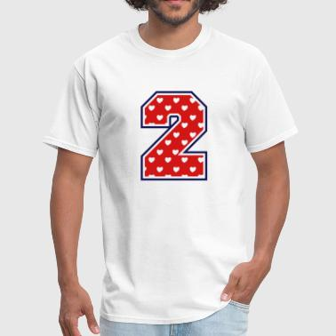 Number 2 Two 2 - Two - Number two - Men's T-Shirt