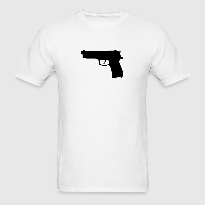 Gun Silhouette - Men's T-Shirt