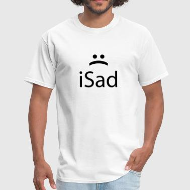 iSad :( Sad emoticon face - Men's T-Shirt