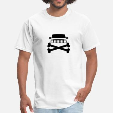 Jeep Grille Jeep XJ Grille and Crossbones  - Men's T-Shirt