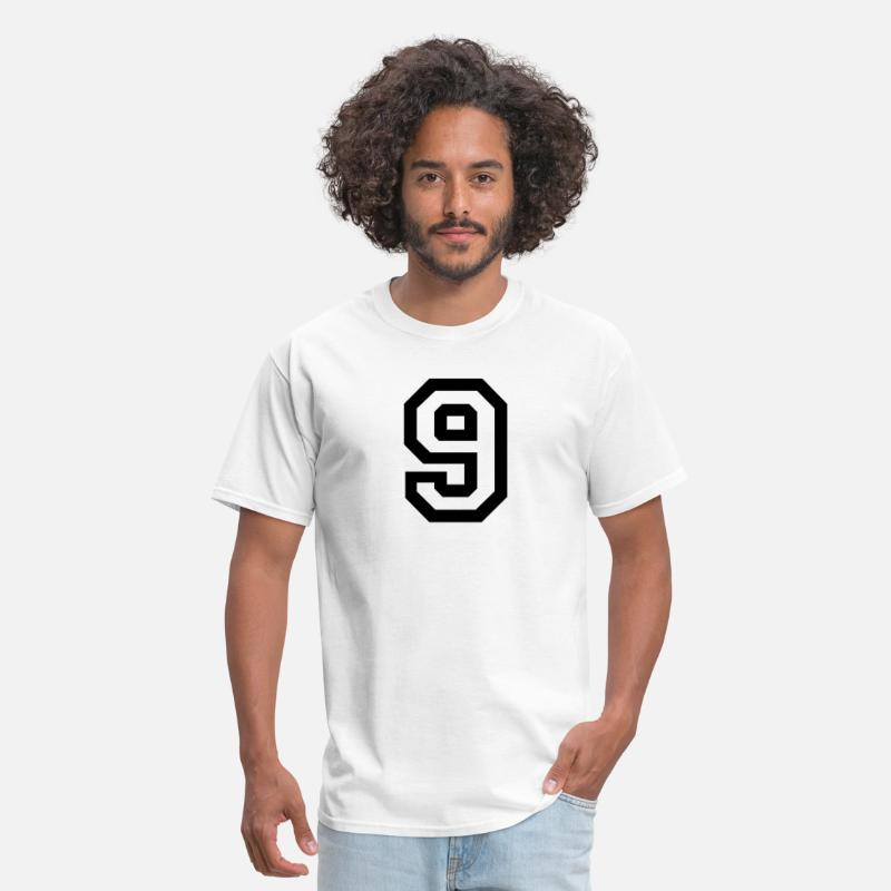 Nine T-Shirts - number - 9 - nine - Men's T-Shirt white