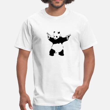 Gun Panda Panda with guns - Men's T-Shirt