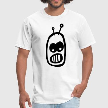 Cartoon Robot Clipart Robot Alien Cartoon Head - Men's T-Shirt