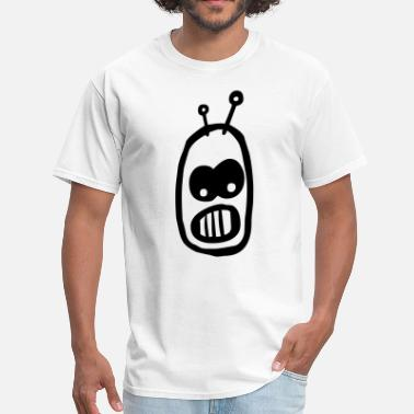 Alien Head Cartoon Robot Alien Cartoon Head - Men's T-Shirt