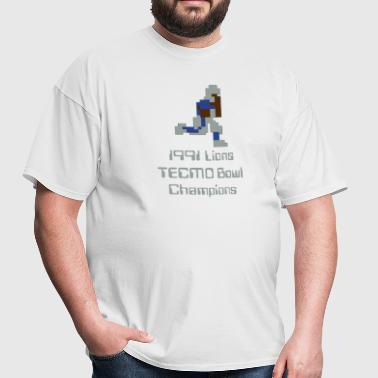 1991 Lions Barry Tecmo 8-bit - Men's T-Shirt