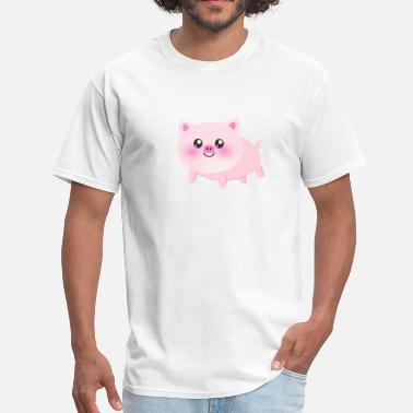 Cute Pink Pig Cute pink pig - Men's T-Shirt