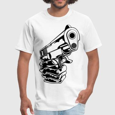 Guns Design Hand with Gun HD DESIGN - Men's T-Shirt