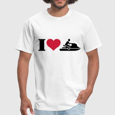 I love jet ski racing - Men's T-Shirt