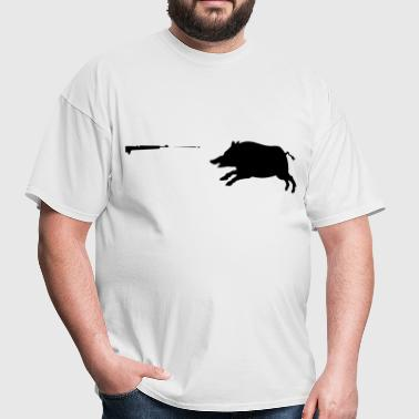 Boar hunting - Men's T-Shirt