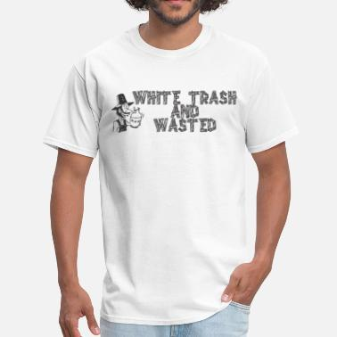 Trash Whiskey Warning Men's Tshirt - Men's T-Shirt