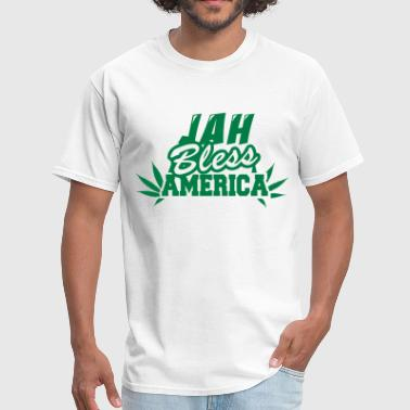 Jah Bless America Fonts - Men's T-Shirt