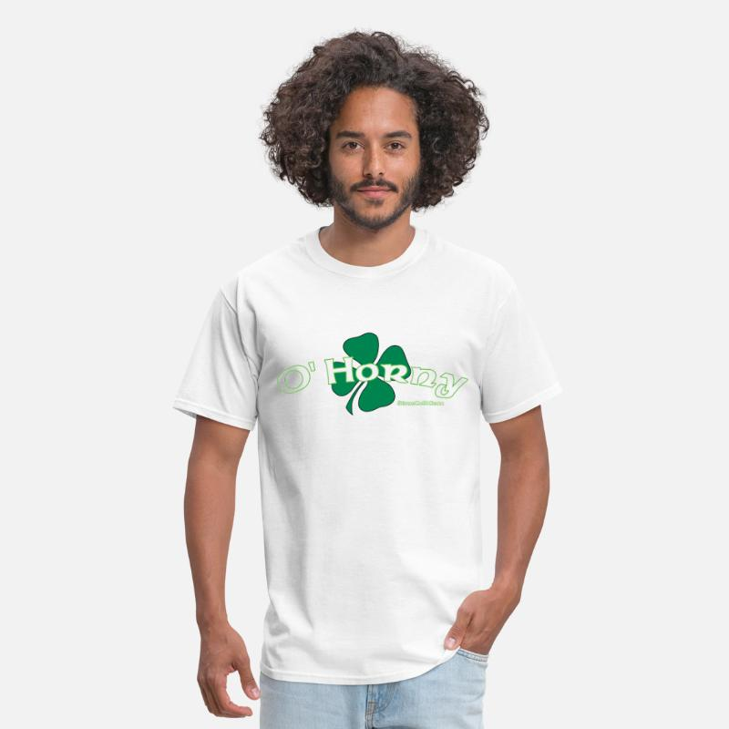 Leprechaun T-Shirts - St Patrick's Day O'Horny - Men's T-Shirt white