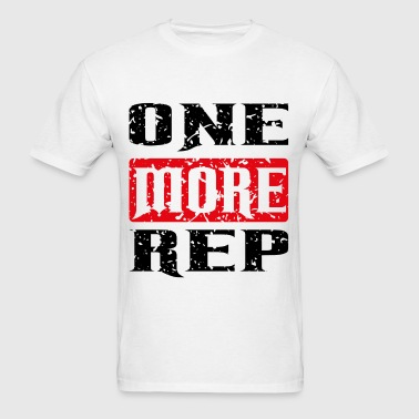 one more rep black red - Men's T-Shirt