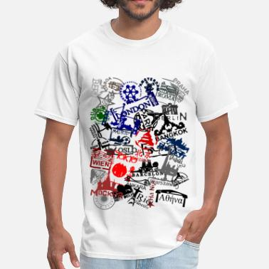 Stamps passport stamps - Men's T-Shirt