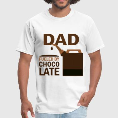 Dad Fueled By Chocolate - Men's T-Shirt