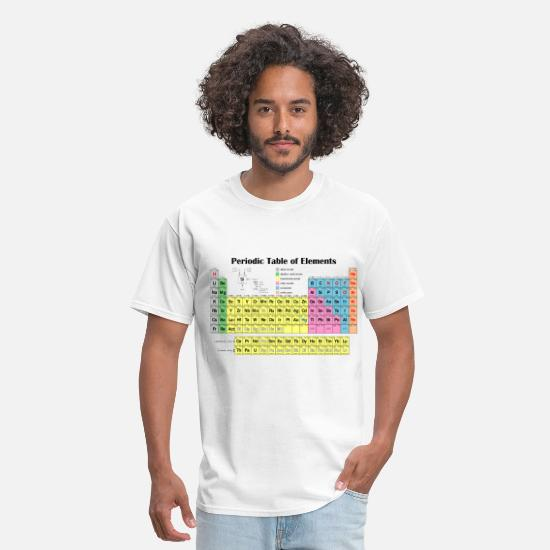 Table T-Shirts - Periodic Table of Elements - Men's T-Shirt white