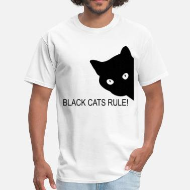 Black Rule Black cats rule - Men's T-Shirt